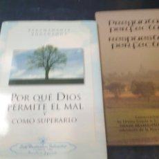 Libros de segunda mano: POR QUE DIOS PERMITE EL MAL Y COMO SUPERARLO, PARAMAHANSA YOGANANDA ( Y REGALO PREGUNTAS PERFECTA. Lote 288566963