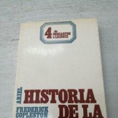 Libros de segunda mano: HISTORIA DE LA FILOSOFÍA, 4 - DE DESCARTES A LEIBNIZ - FREDERICK COPLESTON. Lote 266846499