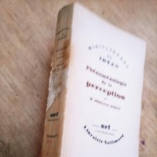 Livres d'occasion: M. MERLEAU-PONTY: PHÉNOMÉNOLOGIE DE LA PERCEPTION. Lote 267087769