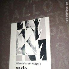 Libros de segunda mano: CARTA A UN JUEU, DE ANTOINE DE SAINT-EXUPERY. Lote 267133419