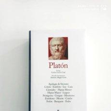 Libri di seconda mano: PLATÓN. 11 DIÁLOGOS. BIBLIOTECA GRANDES PENSADORES GREDOS. Lote 267350344