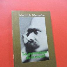 Libros de segunda mano: LA GENEALOGÍA DE LA MORAL. NIETZSCHE, FRIEDRICH. ALIANZA EDITORIAL 1986. Lote 267587044