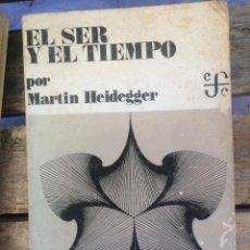 Libri di seconda mano: MARTIN HEIDEGGER; EL SER Y EL TIEMPO 25. MARZO 1971 NO. 288 FCE MEXICO. Lote 268025394