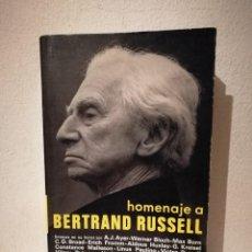 Libros de segunda mano: LIBRO - HOMENAJE A BERTRAND RUSSELL - FILOSOFIA - ENSAYOS EN SU HONOR DE WERNER BLOCH MAX BORN. Lote 269015384