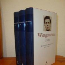 Libri di seconda mano: TRACTATUS / INVESTIGACIONES / DIARIO - LUDWIG WITTGENSTEIN - GREDOS, COMO NUEVO. Lote 267450844