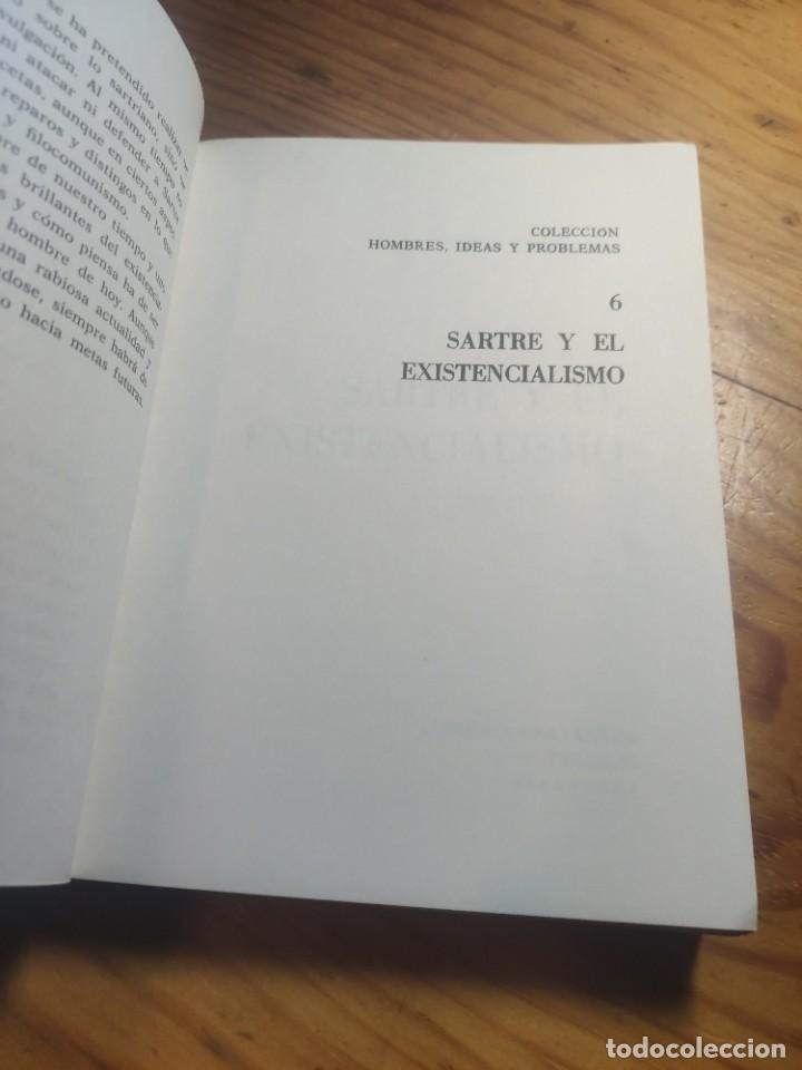 Libros de segunda mano: ANTONIO CUNILLERA: SARTRE Y EL EXISTENCIALISMO - COLECCIÒN ;HOMBRES,IDEAS,PROBLEMAS - 1968 - 1ª EDIC - Foto 2 - 269328778