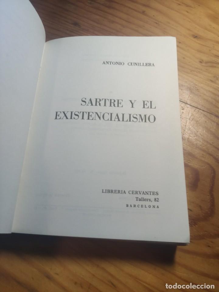 Libros de segunda mano: ANTONIO CUNILLERA: SARTRE Y EL EXISTENCIALISMO - COLECCIÒN ;HOMBRES,IDEAS,PROBLEMAS - 1968 - 1ª EDIC - Foto 3 - 269328778