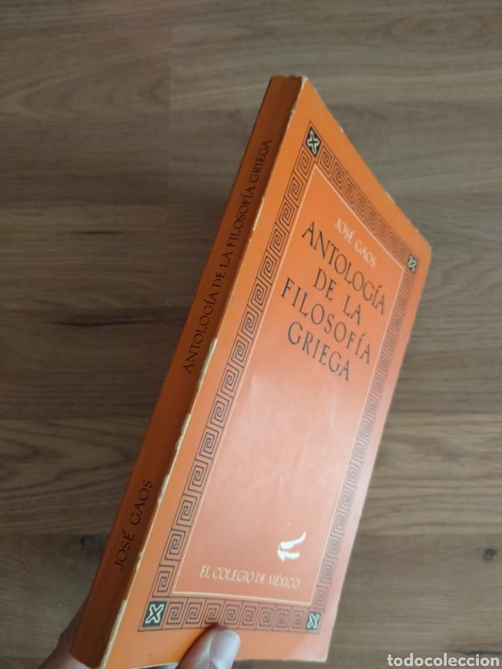 Libros de segunda mano: Antología de la filosofía Griega. José Gaos. - Foto 2 - 269398108