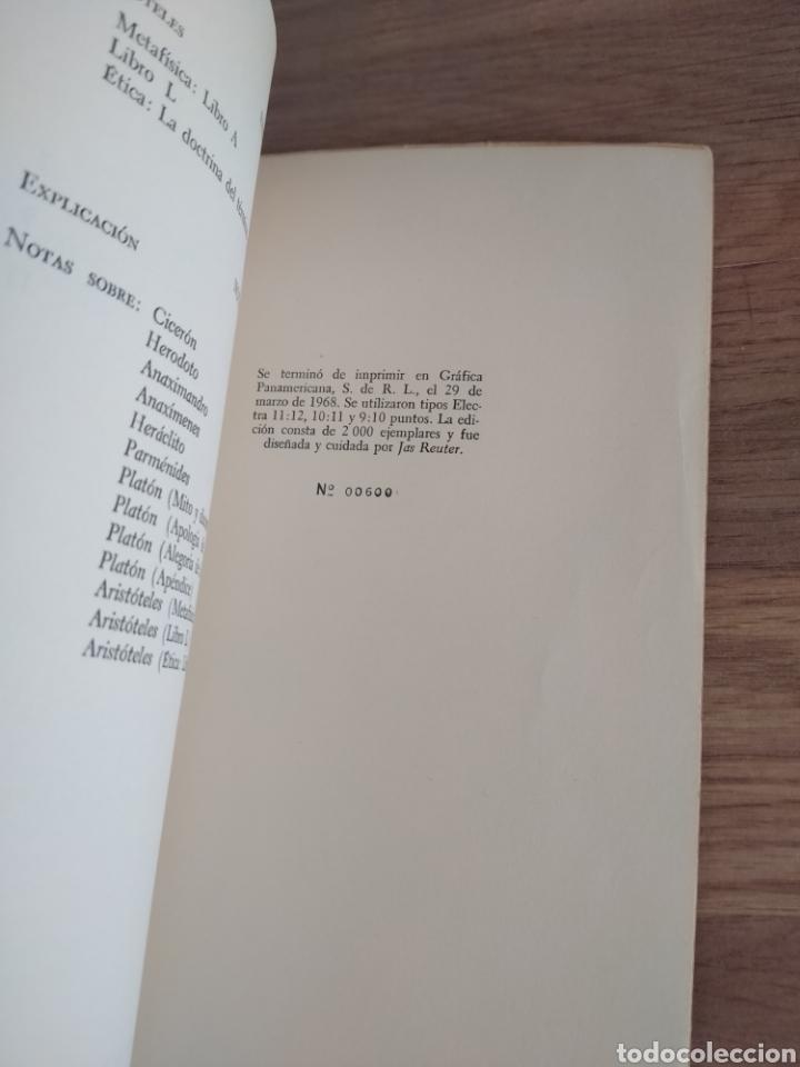 Libros de segunda mano: Antología de la filosofía Griega. José Gaos. - Foto 4 - 269398108