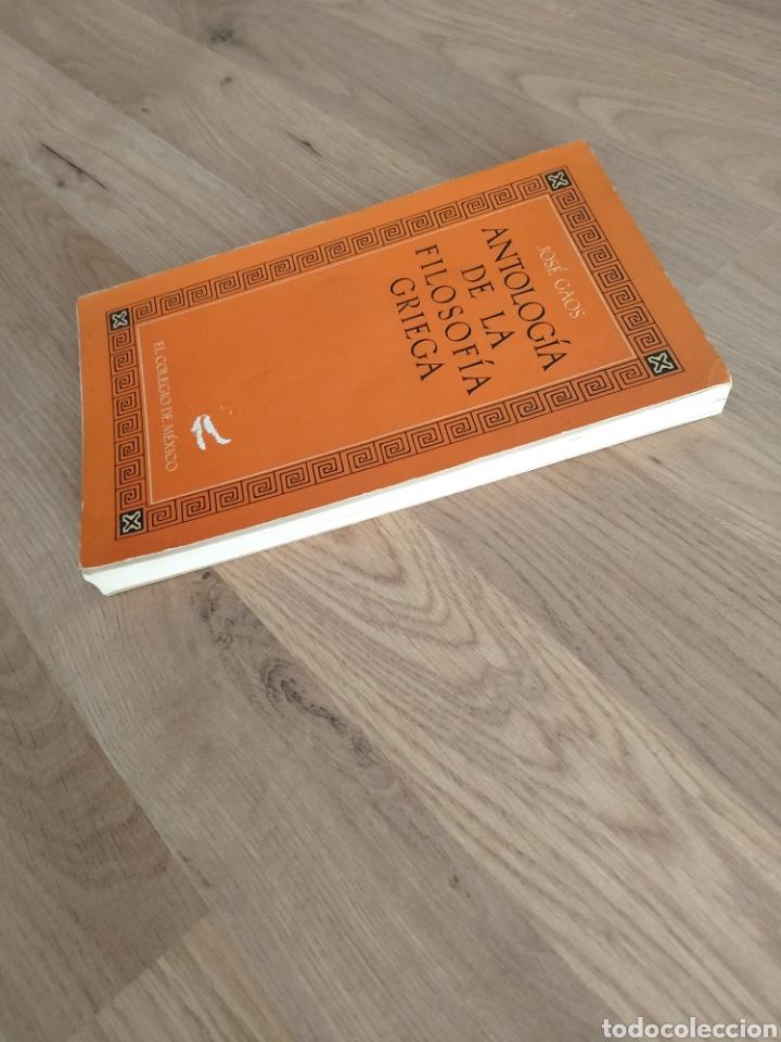 Libros de segunda mano: Antología de la filosofía Griega. José Gaos. - Foto 9 - 269398108