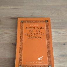 Libros de segunda mano: ANTOLOGÍA DE LA FILOSOFÍA GRIEGA. JOSÉ GAOS.. Lote 269398108