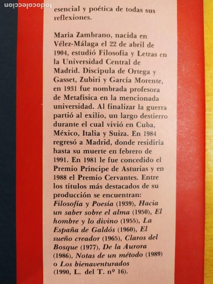 Libros de segunda mano: EL HOMBRE Y LO DIVINO / MARÍA ZAMBRANO / 1991. SIRUELA - Foto 6 - 269466238