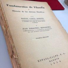 Livros em segunda mão: 1954 FUNDAMENTOS DE LA FILOSOFÍA MANUEL GARCIA MORENTE JUAN ZARAGÜETA BENGOECHEA. Lote 269609933