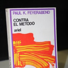 Libros de segunda mano: CONTRA EL MÉTODO. ESQUEMA DE UNA TEORÍA ANARQUISTA DEL CONOCIMIENTO.- FEYERABEND, PAUL K.. Lote 269947253