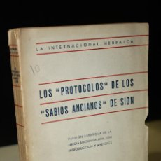 Libros de segunda mano: LOS ''PROTOCOLOS'' DE LOS ''SABIOS ANTIGUOS'' DE SION.- LA INTERNACIONAL HEBRAICA.. Lote 269950963
