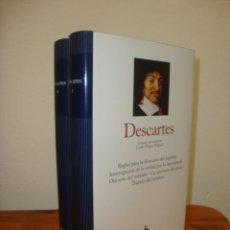 Libros de segunda mano: REGLAS PARA LA DIRECCIÓN DEL ESPÍRITU. MEDITACIONES METAFÍSICAS (DOS VOL.) - RENE DESCARTES, GREDOS. Lote 270194993