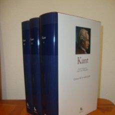 Libros de segunda mano: CRÍTICA DE LA RAZÓN PURA. FUNDAMENTACIÓN PARA UNA METAFÍSICA (TRES VOL.) - IMMANUEL KANT - GREDOS. Lote 270195283