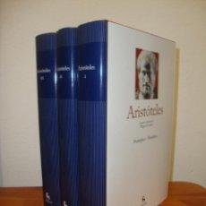 Libros de segunda mano: PROTRÉPTICO. METAFÍSICA. FÍSICA. ACERCA DEL ALMA. ÉTICA (TRES VOL)- ARISTÓTELES - GREDOS, COMO NUEVO. Lote 270195458