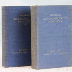 Libros de segunda mano: ELEMENTA PHILOSOPHIAE SCHOLASTICAE,REINSTADLER,EDITORIAL HERDER&CO,1937,EN LATIN. Lote 271148028