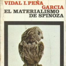Libros de segunda mano: EL MATERIALISMO DE SPINOZA / VIDAL PEÑA.. Lote 271699613