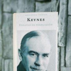 Libros de segunda mano: FILOSOFIA. GRANDES OBRAS DEL PENSAMIENTO KEYNES ENSAYOS DE PERSUASION. Lote 272961753