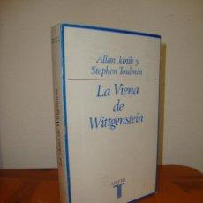 Libri di seconda mano: LA VIENA DE WITTGENSTEIN - ALLAN JANIK Y STEPHEN TOULMIN - EDICIONES TAURUS. Lote 274934808
