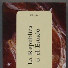 Libros de segunda mano: LA REPUBLICA O EL ESTADO. PLATON. ESPASA. COLECCIÓN CENTENARIO. Lote 275136003