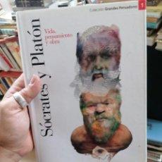 Libros de segunda mano: SOCRATES Y PLATON. VIDA, PENSAMIENTO Y OBRA. GRANDES PENSADORES. N. 1. Lote 275220688