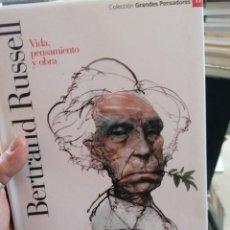 Libros de segunda mano: BERTRAND RUSSELL. VIDA, PENSAMIENTO Y OBRA. GRANDES PENSADORES. N. 17. Lote 275220843