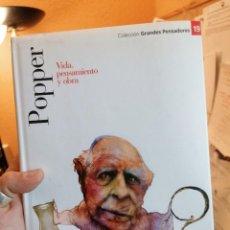 Libros de segunda mano: POPPER. VIDA, PENSAMIENTO Y OBRA. GRANDES PENSADORES. N. 19. Lote 275222323