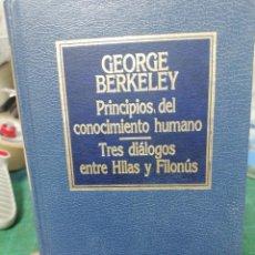 Libros de segunda mano: GEORGE BERKELEY. PRINCIPIOS DEL CONOCIMIENTO HUMANO. ORBIS. Lote 275562863