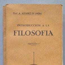 Libros de segunda mano: INTRODUCCION A LA FILOSOFIA. ALVAREZ DE LINERA. 2 TOMOS. Lote 275697143