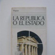Libros de segunda mano: LA REPÚBLICA O EL ESTADO - PLATÓN - BIBLIOTECA EDAF DE BOLSILLO Nº 121 - EDAF 1981. Lote 276262003