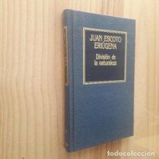 Libros de segunda mano: DIVISIÓN DE LA NATURALEZA - JUAN ESCOTO ERIÚGENA. Lote 277059428