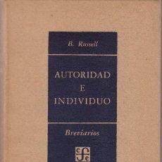 Libros de segunda mano: BERTRAND RUSSELL: AUTORIDAD E INDIVIDUO. Lote 277129763