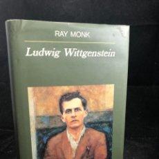 Libros de segunda mano: LUDWIG WITTGENSTEIN, DE RAY MONK. ED. ANAGRAMA, 1994. Lote 277218748