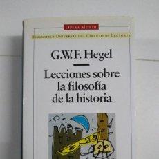 Libros de segunda mano: LECCIONES SOBRE LA FILOSOFÍA DE LA HISTORIA - G. W. F. HEGEL. Lote 277293048