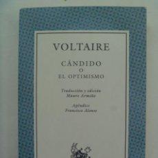 Libros de segunda mano: CANDIDO O EL OPTIMISMO, DE VOLTAIRE . AUSTRAL, 2001. Lote 277372593