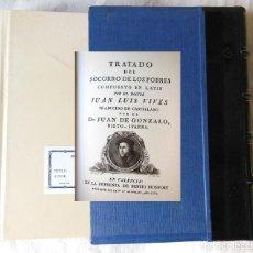 Libros de segunda mano: TRATADO DEL SOCORRO DE LOS POBRES. 1992 JUAN LUIS VIVES. FACSIMIL DE LA DE 1781. Lote 277616593