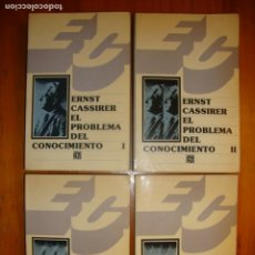 Libros de segunda mano: EL PROBLEMA DEL CONOCIMIENTO - ERNST CASSIRER - FONDO DE CULTURA ECONÓMICA. Lote 278542073