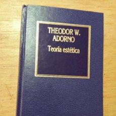 Libros de segunda mano: THEODOR W. ADORNO: TEORÍA ESTÉTICA. Lote 278695018