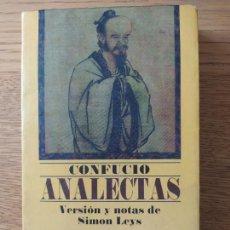 Libros de segunda mano: ANALECTAS (ARCA DE SABIDURÍA) CONFUCIO, EDITORIAL: EDITORIAL EDAF, S.L., 2001. Lote 279371578