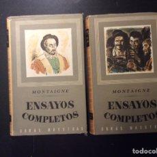 Libros de segunda mano: ENSAYOS COMPLETOS. MONTAIGNE.. Lote 283968118