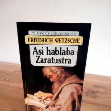 Libros de segunda mano: ASÍ HABLABA ZARATUSTRA. FRIEDRICH NIETZSCHE. EDICOMUNICACION. ED. 1997. Lote 288568378