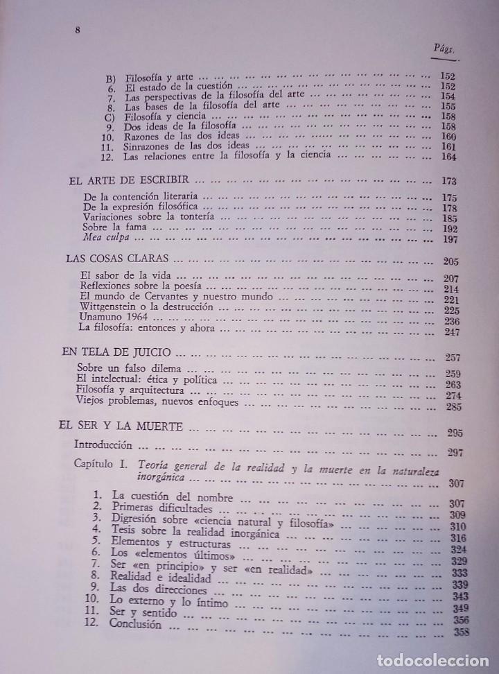 Libros de segunda mano: JOSÉ FERRATER MORA - OBRAS SELECTAS, 2 - REVISTA DE OCCIDENTE, 1967 - Foto 3 - 288722148