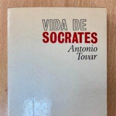 Libros de segunda mano: VIDA DE SÓCRATES. ANTONIO TOVAR.-NUEVO. Lote 289764858