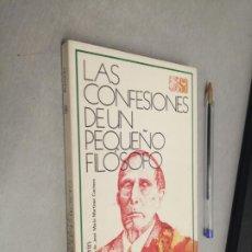 Libros de segunda mano: LAS CONFESIONES DE UN PEQUEÑO FILÓSOFO / AZORÍN / SELECCIONES AUSTRAL - ESPASA CALPE 1979. Lote 289849578