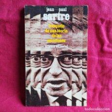 Libros de segunda mano: BOSQUEJO DE UNA TEORÍA DE LAS EMOCIONES - SARTRE, JEAN PAUL. Lote 290147338