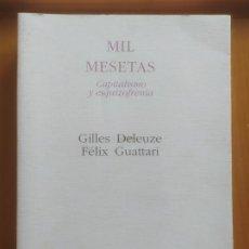 Libros de segunda mano: MIL MESETAS.GILLES DELEUZE Y FÉLIX GUATTARI.. Lote 292083353