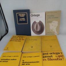 Libros de segunda mano: 9 LIBROS JOSÉ ORTEGA Y GASSET. EL ARQUERO, REVISTAS DE OCCIDENTE, Y OTROS. Lote 295641783
